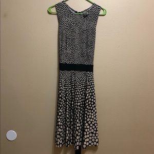 Black & Tan Polka Dot Dress Size 10